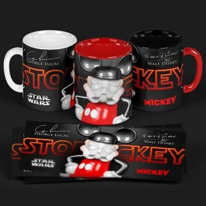 TAZA MICKEY MOUSE STAR WARS