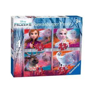 PUZZLE FROZEN II 4 IN A BOX 19X14CM RAVENSBURGER + 3 AÑOS