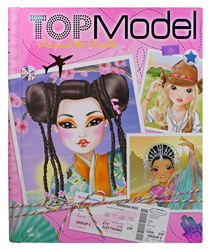 CUADERNO COLOREAR TOPMODEL AROUND THE WORLD