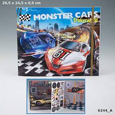 MONSTER CARS STICKERWORLD