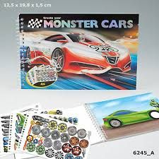 CUADERNO COLOREAR CREATE YOUR MONSTER CARS