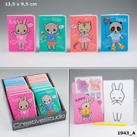 LIBRO COLOREAR DRESS UP YOUR KITTY - PANDA - BUNNY - TEDDY