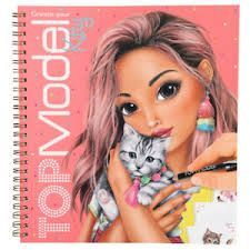 CREA TU LIBRO DE COLOREAR KITTY TOP MODEL