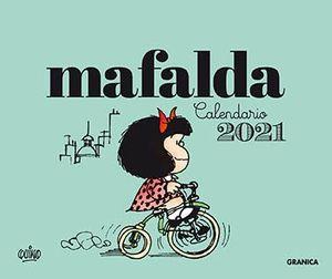 CALENDARIO 2021 MAFALDA  ESCRITORIO-VERDE (SIN CAJ