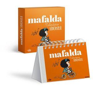 CALENDARIO 2021 MAFALDA  ESCRITORIO - ANARANJADO (