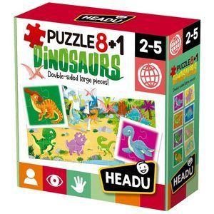 PUZZLE HEADU 8 + 1 DINOSAURIOS 2-5 AÑOS
