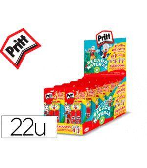 PACK 2 STICKS PEGAMENTRO PRITT MEDIANO 22GR + GOMA DE BORRAR