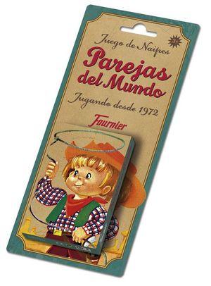 BARAJA CARTAS INFANTIL PAREJAS DEL MUNDO