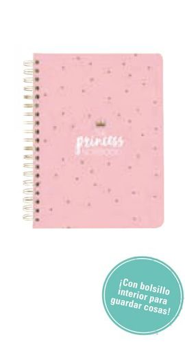 LIBRETA-AGENDA  A5 YOU ARE THE PRINCESS 2019