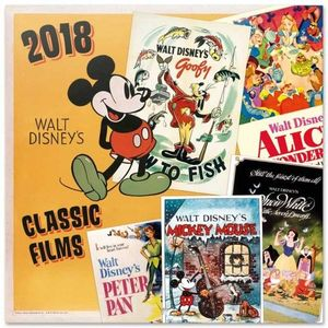DISNEY'S CLASSIC FILMS CALENDARIO 2018
