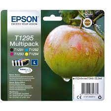 PACK CARTUCHO ORIGINAL EPSON T1295 BK+C+M+Y