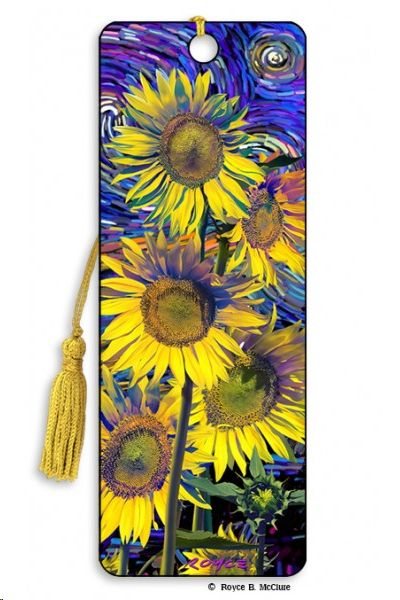 MARCAPAGINAS 3D SUNFLOWERS GIRASOLES