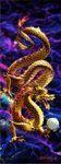 MARCAPAGINAS 3-D PUNTO DE LIBRO GOLDEN DRAGON