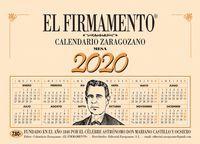 CALENDARIO MESA ZARAGOZANO 2020