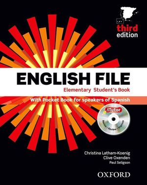 ENGLISH FILE ELEMENTARY: STUDENT'S BOOK AND WORKBOOK WITH ANSWER KEY PACK 3RD ED