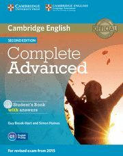 COMPLETE ADVANCED - STUDENT'S BOOK WITH ANSWERS (+ CD-ROM)