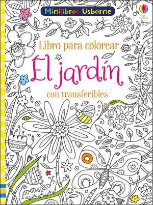 LIBRO PARA COLOREAR EL JARDIN CON TRANSFERIBLES
