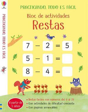 BLOC DE ACTIVIDADES RESTAS