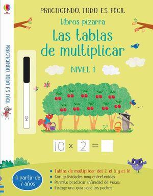 LIBROS PIZARRA: TABLAS DE MULTIPLICAR