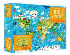ANIMALES DEL MUNDO (LIBRO Y PUZLE 200 PIEZAS)