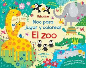 EL ZOO. BLOC JUGAR Y COLOREAR