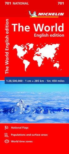 MAPA THE WORLD (MAPA NACIONAL 701 EL MUNDO MICHELIN)