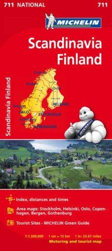 MAPA NATIONAL 711 SCANDINAVIA FINLAND (ESCANDINAVIA FINLANDIA)
