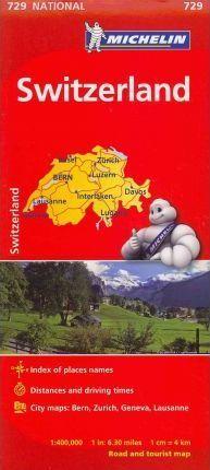MAPA NATIONAL 729 SWITZERLAND (SUIZA)