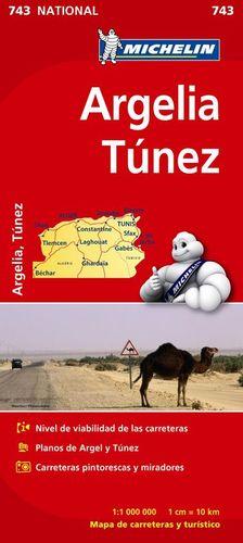 MAPA NATIONAL 743 ARGELIA TÚNEZ