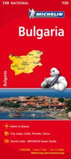 MAPA NATIONAL 739 BULGARIA