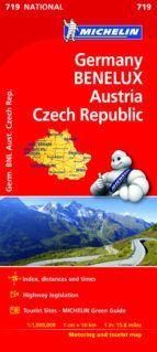 MAPA NATIONAL 719 ALEMANIA BENELUX AUSTRIA REP. CHECA