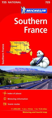 MAPA NATIONAL 725 SOUTHERN FRANCE (FRANCIA SUR)