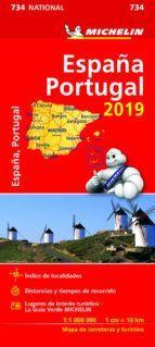 MAPA NATIONAL 734 ESPAÑA Y PORTUGAL 2019