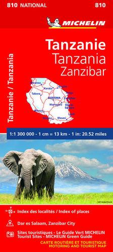 MAPA NATIONAL 810 TANZANIA ZANZÍBAR