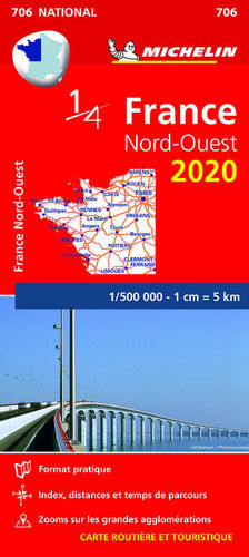 MAPA NATIONAL 706 FRANCE NORD-OUEST 2020