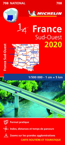 MAPA NATIONAL 708 FRANCE SUD-OUEST 2020