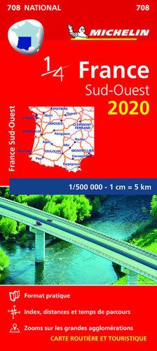 MAPA NATIONAL 708 FRANCE SUD-OUEST 2020