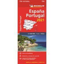 MAPA NATIONAL 734 ESPAÑA-PORTUGAL 2021