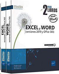 PACK EXCEL Y WORD. VERSIONES 2019 Y OFFICE 365. 2 VOL
