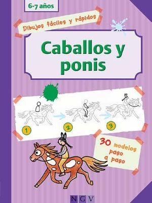 CABALLOS Y PONIS -DIBUJO PASO A PASO-