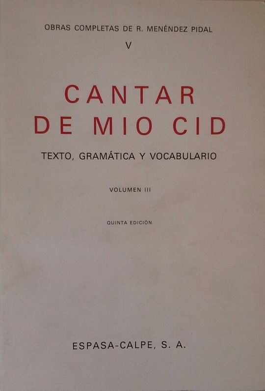 CANTAR DE MIO CID, III