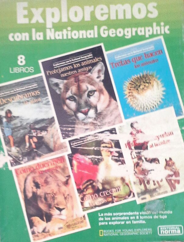EXPLOREMOS CON LA NATIONAL GEOGRAPHIC. 2 CAJAS DE 8 TOMOS CADA UNA