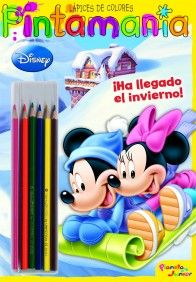 MICKEY.PINTAMANIA LAPICES DE COLORES. MYA