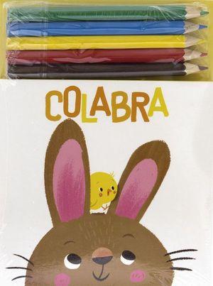 COLABRA. CONEJO (+ 5 LAPICES DE COLORES)