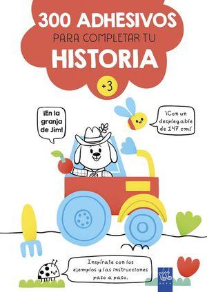 300 ADHESIVOS PARA COMPLETAR TU HISTORIA ¡EN LA GRANJA DE JIM!
