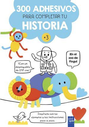 300 ADHESIVOS PARA COMPLETAR TU HISTORIA ¡EN EL ZOO DE PINGU!