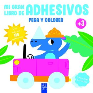 MI GRAN LIBRO DE ADHESIVOS. PEGA Y COLOREA: ANIMALES SALVAJES
