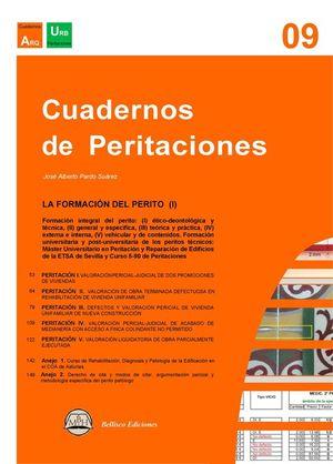 CUADERNOS DE PERITACIONES, 9: LA FORMACION DEL PERITO (I)