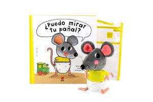 PACK PUEDO MIRAR TU PAÑAL + MUÑECO RATON