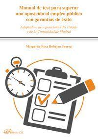 MANUAL DE TEST PARA SUPERAR UNA OPOSICION AL EMPLEO PUBLICO CON G